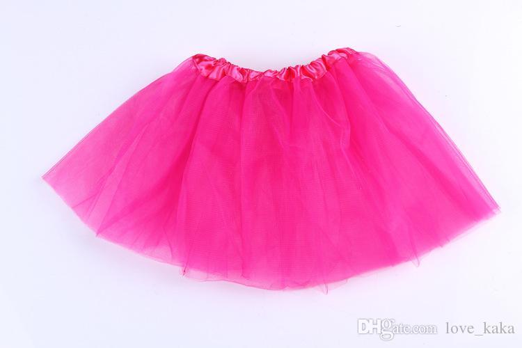 도매 18 개 색상 얇은 명주 그물 투투 스커트 Pettiskirt 댄스웨어 발레 드레스 화려한 스커트 의상 1-8T 춤 아기 소녀 발레 용의 짧은 스커트 드레스 키즈