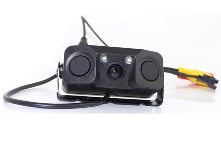 600TV 라인 3 in 1 사운드 알람 자동차 역방향 백업 비디오 주차 센서 레이더 시스템 후면보기 주차 카메라 + 2 센서
