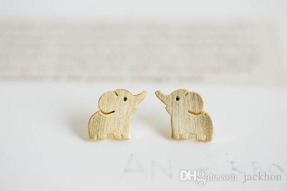 10PAIRS صغيرة الفيل مسمار تصميم أقراط أزياء لطيف مجوهرات الطفل الفيل الأزرار القرط الاطفال الحيوان للمرأة