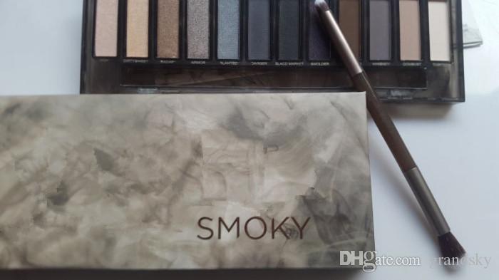 Drop Ship Maquiagem Sombra 12 paleta da sombra da cor NUDE Smoky Palette frete grátis rápido De Grandsky