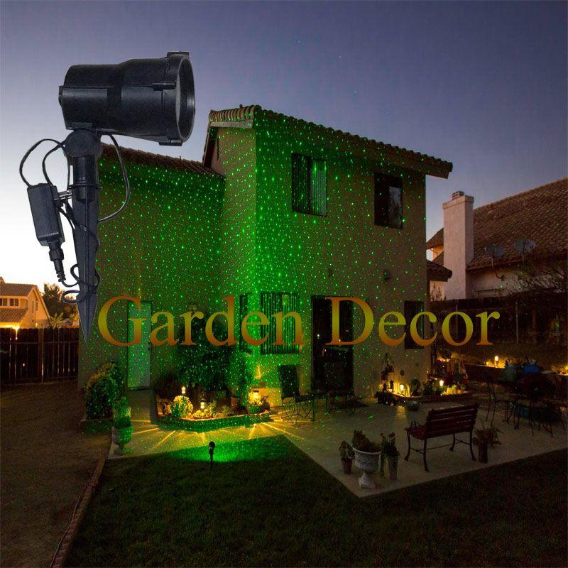 Moving Single Green moving garden laser light for Christmas garden decoration/lawn light/grass/landscape laser/Christmas tree lighting