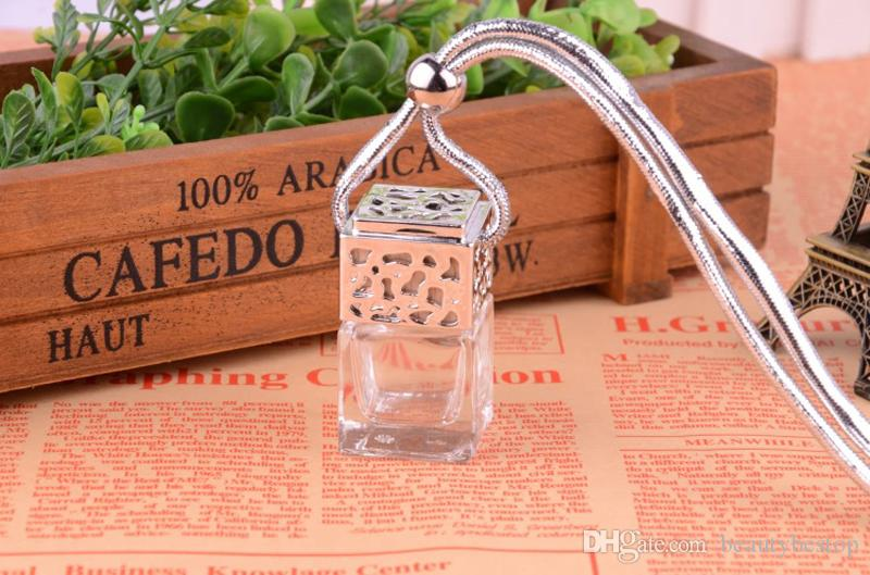 Preço de fábrica 100pcs / lot 5 ml de suspensão das garrafas de perfume Car Car Pendant decoração do cair da corda vazios de frascos de vidro DHL frete grátis