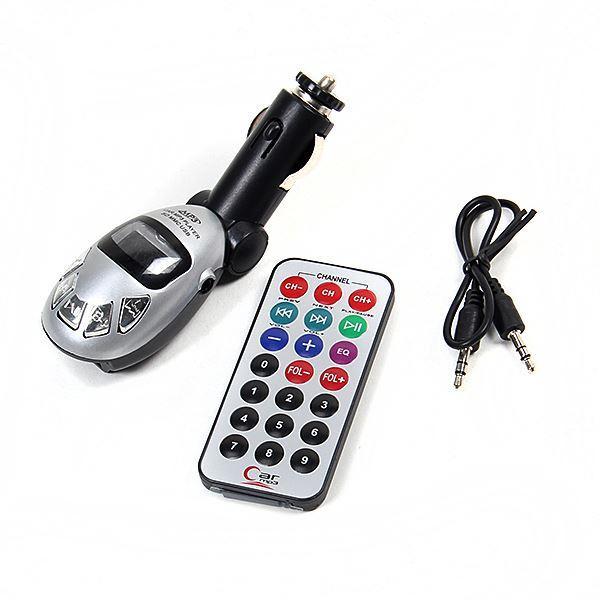 Nouvelle voiture lecteur mp3 pliable transmetteur FM radio télécommande disque usb carte sd haute qualité
