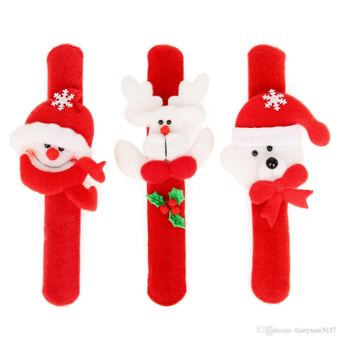Рождественские украшения Рождество похлопывание круг Рождество дети подарок Санта-Клаус снеговик олень новогодняя вечеринка игрушки TY1650