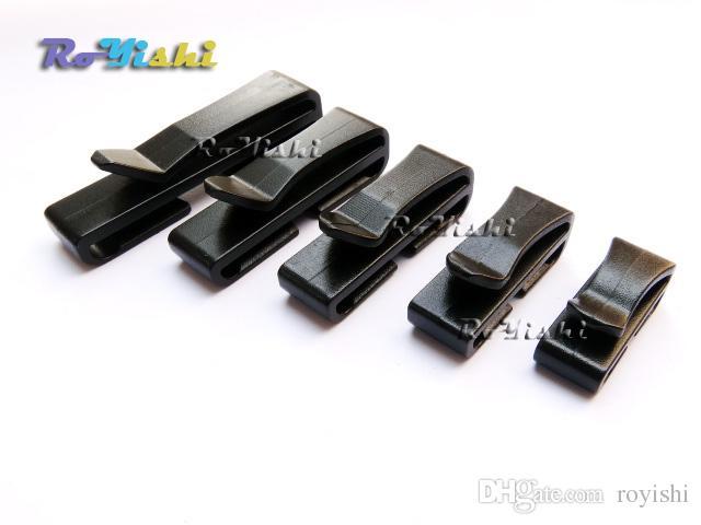 100 قطعة / الوحدة أسود مشبك حزام مشبك حزام نهاية سريعة لظهر حقيبة ضبط حزام