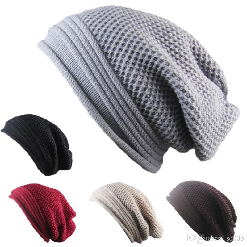 Unisex Baggy Beanie Folds Flanging Design Hip Hop Hats Solid Color Skull Caps For Men And Women Party Gift 7 5jba B