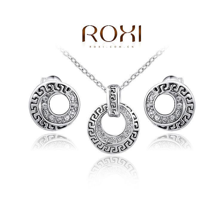 015 8.19 Sales ROXI Free Shipping Chinese Style Statement Cooper Coin Set Fashion Jewelry Earrings+Necklace For Women Party Wedding