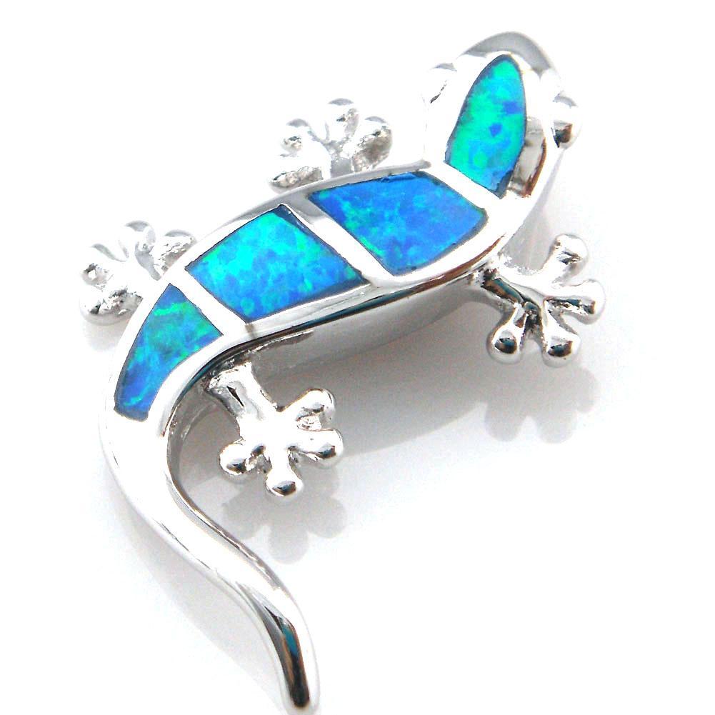 Animal azul opala jóias com pedra cz; pingente de opala mexicano op188a