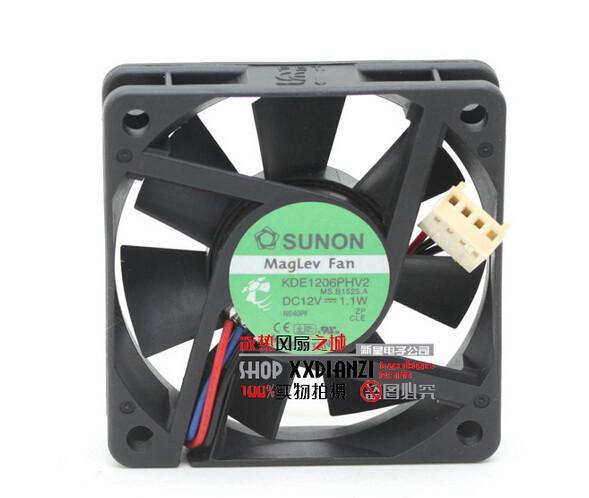Original Sunon KDE1206PHV2 12V 0.9W 6015 6cm tyst fan maglev