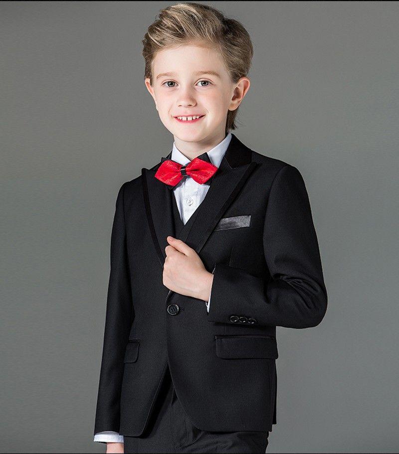 another chance unique design search for original New Arrival Boy Tuxedos Peak Lapel Children Suit Royal Blue/Red/Black Kid  Wedding/Prom Suits Jacket+Vest+Pants+Bow Tie+Shirt NH3 Boys Jacket Boys  Vest ...