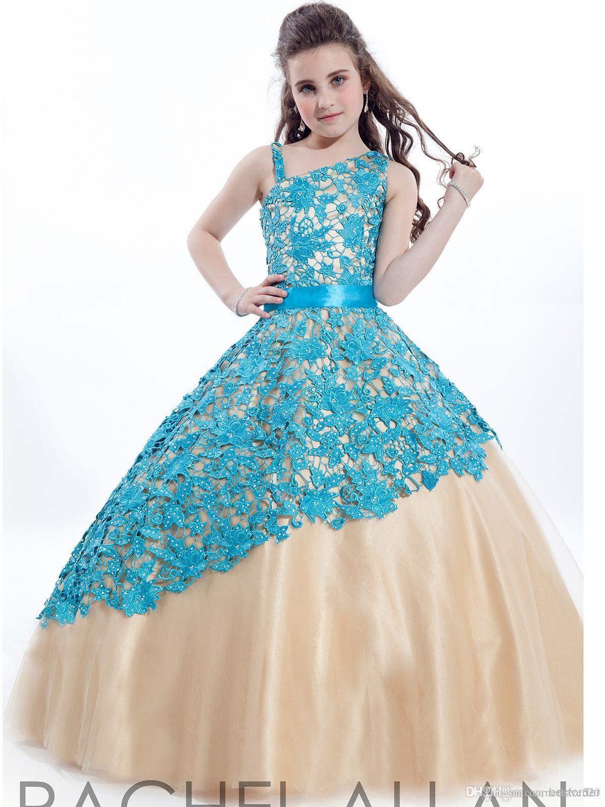 Hot Style! Rachel Allan Ball Gowns Girls Pageant Dresses Little ...