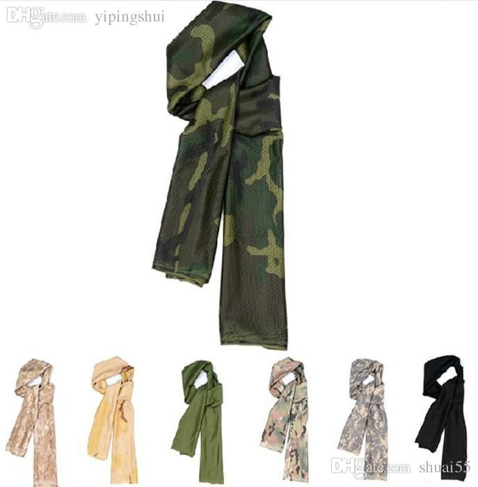 Soft Camouflage Fish Net Sniper Cover Head Scarf Veil Face Neckerchief