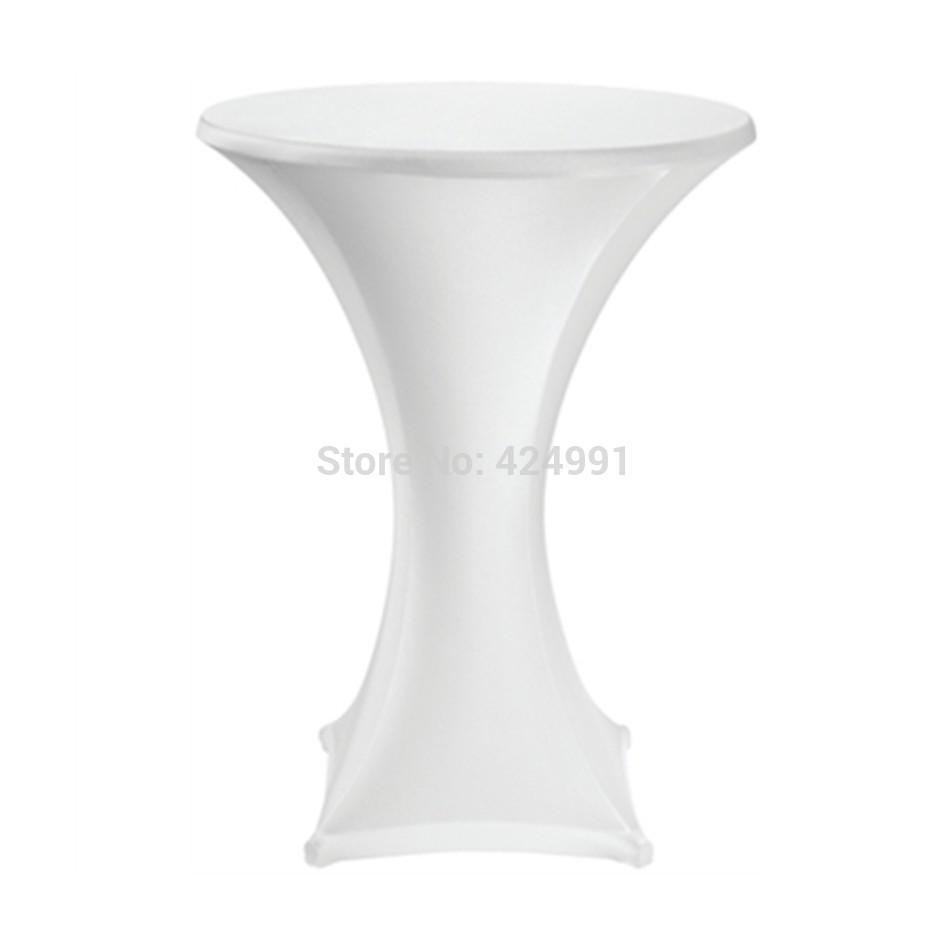 10pcs Quality White Extra Large Lycra dry bar cover Cocktail table cover &cloth for wedding event &party decoration