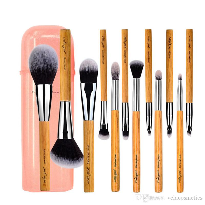 vela.yue Set de pinceaux de maquillage de luxe Visage synthétique Joue Yeux Lèvres Kit d'outils de beauté