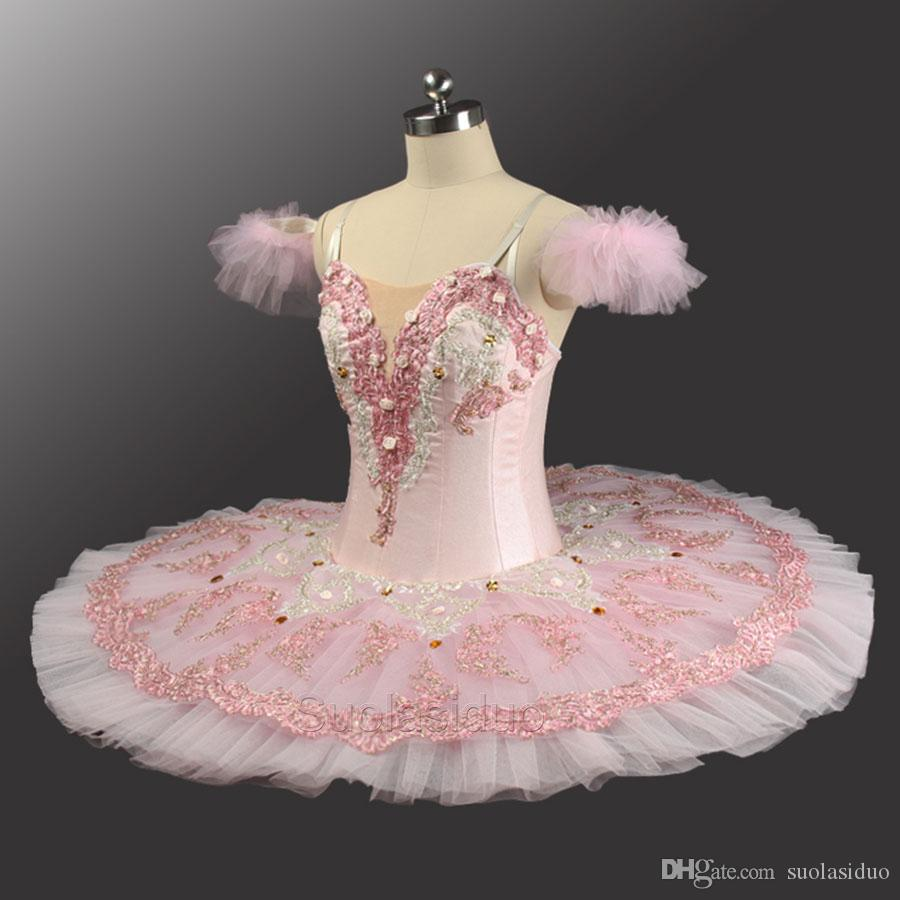 24330088f Pink Peach Fairy Professional Ballet Tutu With Flowers Ballet Professional  Tutu For Adults Girls Ballet Tutu Dress SD0082