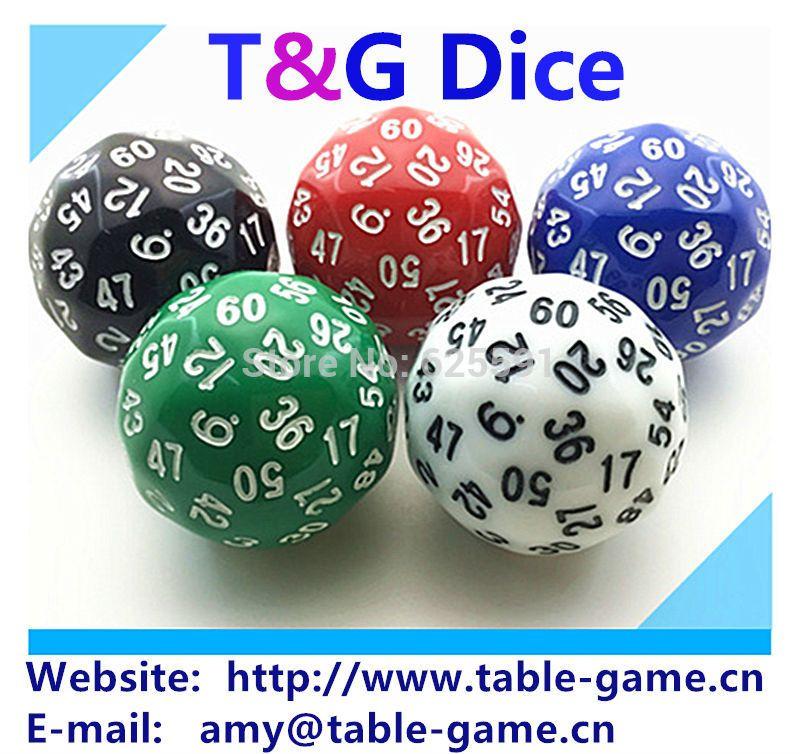 Dés TG 1pice Dés de 60 faces de haute qualité, dés D60, dés polyédriques pour jeu de société, numéro 1-60, Dungeon and Dragons rpg dd dados