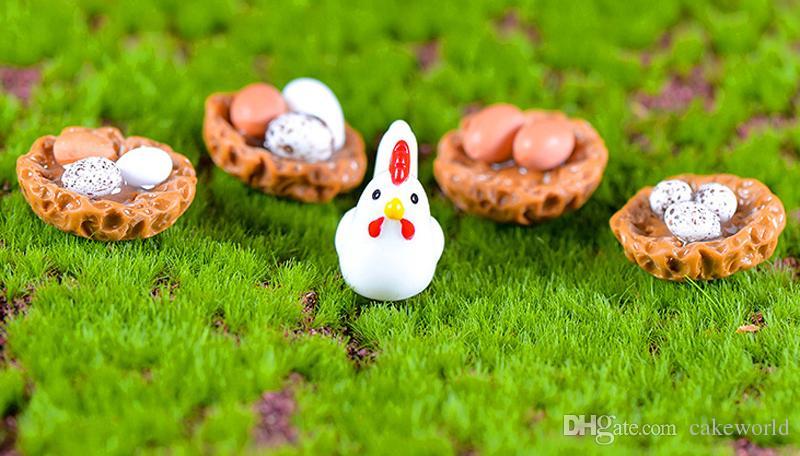 2020 Mini Hatch Chick Egg Bonsai Terrarium Figurines Home