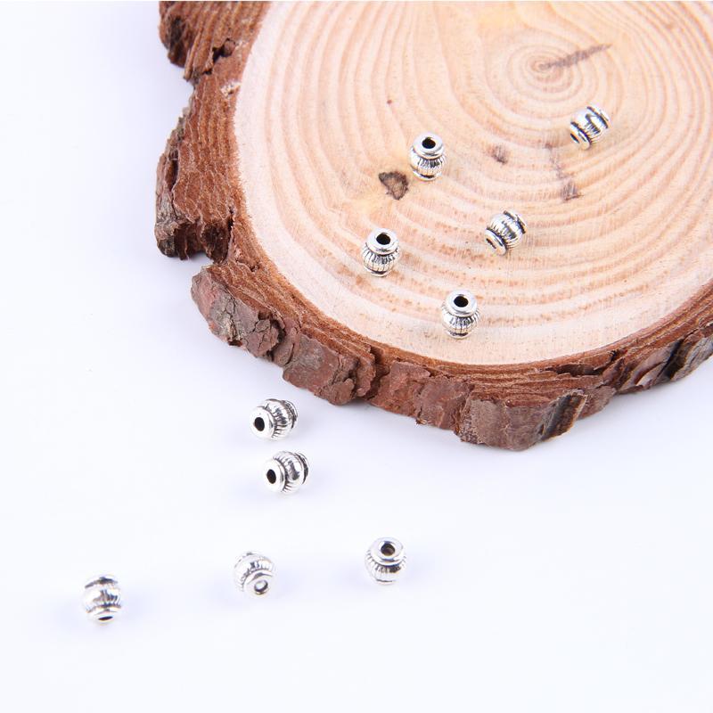 Populaire nouvelle mode argent / cuivre rétro perles Pendentif Fabrication DIY bijoux pendentif fit Collier ou Bracelets charme 300pcs / lot 4854x