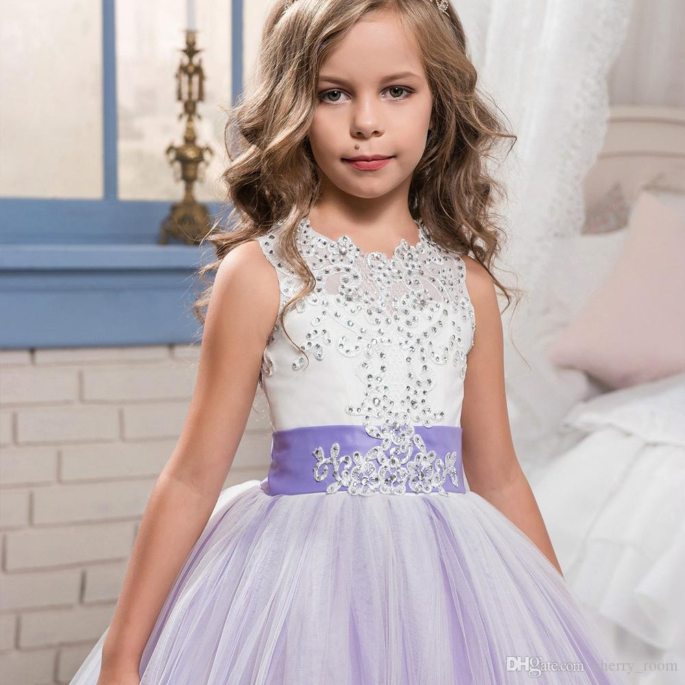 Lace girls pageant dress rhinestones butterfly children bridesmaid lace girls pageant dress rhinestones butterfly children bridesmaid dress tulle kids princess party dresses girl ball ombrellifo Images
