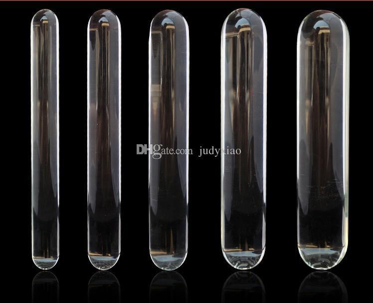 Sexig kristallglas dildos penis anal plug glass stick sex flirta leksaker bra gåva till henne