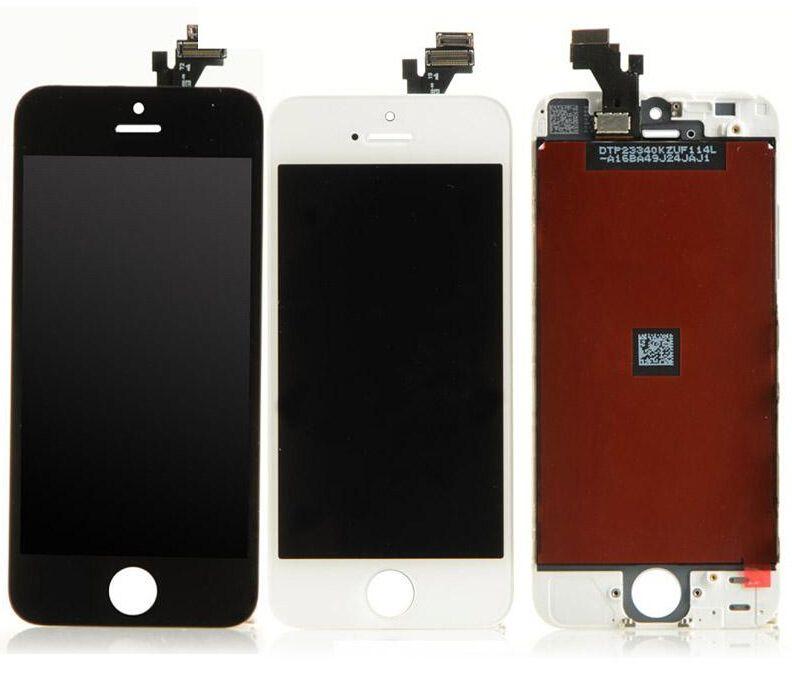 جودة عالية فون 5 5G 5C 5S شاشة LCD تعمل باللمس محول الأرقام شاشة كاملة مع الإطار الكامل LCD الجمعية استبدال شاشة اي فون