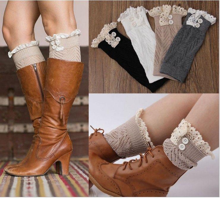Baby Girl/'s Leg Warmers Toddler Boot Socks Lace Boot Topper USA Seller