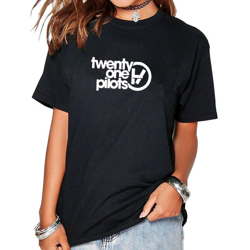 2019 neue Mode einundzwanzig Piloten Brief drucken T-Shirt Tops T-Shirt weiblich süß plus Größe Kawaii Punk koreanischen Rock