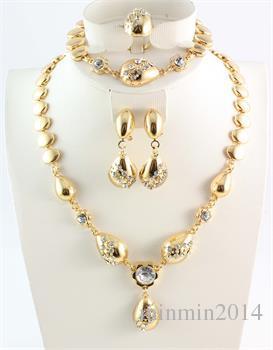 Afryki Zestawy Biżuterii Austria Biały Kryształ Afryki Kostium Naszyjniki Bransoletki Kolczyki Pierścienie Dla Kobiet