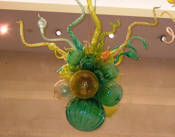 샹들리에를위한 CE UL 붕규산 무라노 유리 데일 치 훌리 (Dale Chihuly) 예술 현대 미니 크리스탈 펜던트를 풍선 100 % 입