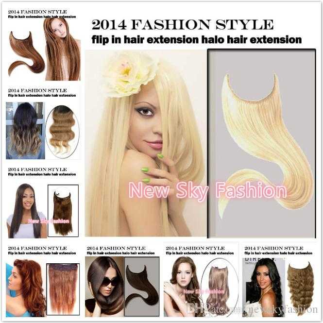 Natural Wave Length 8 18inch Cheap Price Brazilian Remy Hair High Quality Halo Extension