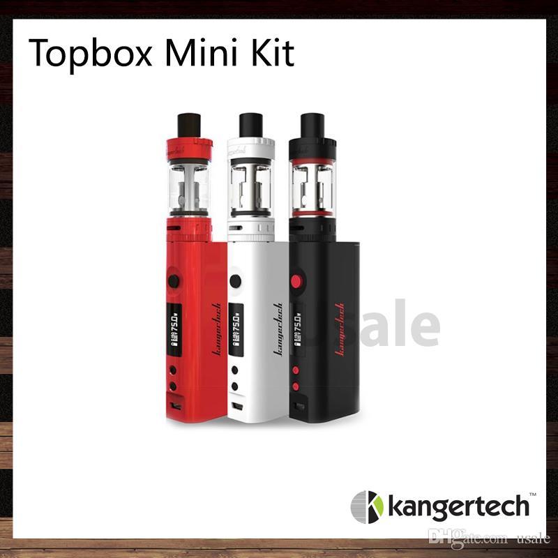 Kanger Topbox Mini Starter Kit مع Kbox Mini 75W TC Mod 3.5ML Toptank Mini البخاخة أعلى ملء تدفق الهواء التحكم 100 ٪ الأصلي