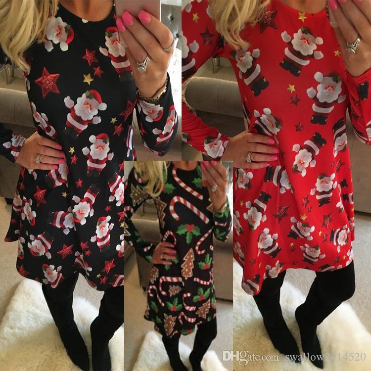 Christmas Crutch Dress for Womens Blouses Tops Skirts for Women Tops for Women Print Santa Claus Mini Dresses Women Shorts Clothing