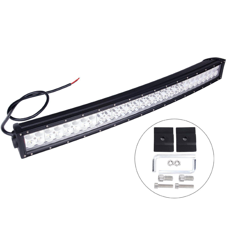"""30 """"le CREE 180w a incurvé le guide optique de LED outre du faisceau combiné de route 9-32V 180W LED barre lumineuse superbe 14400lm 4x4 outre de la route ATV SUV Jeep"""