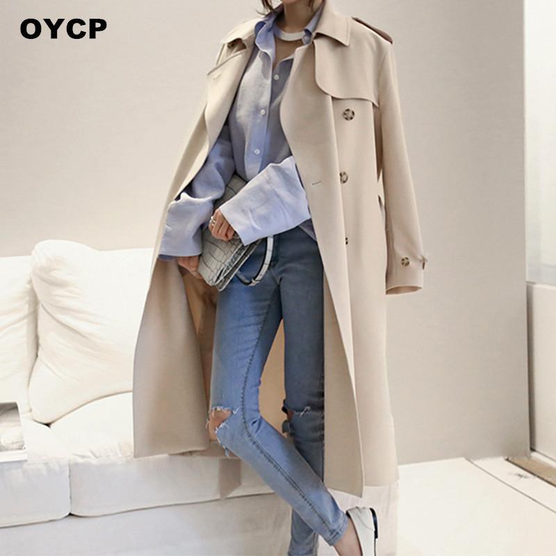 Manteau trench long femme