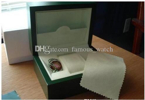 Factory Supplier Green Brand Original Box Papers Gift Watches Boxes Leather Bag Card For 116610 116660 116710 116613 116500 Watch Boxes