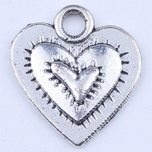Сердце любовь подвески Античное серебро / бронза подвески Fit браслеты или ожерелье DIY ювелирных изделий 1500 шт. / лот 1769z