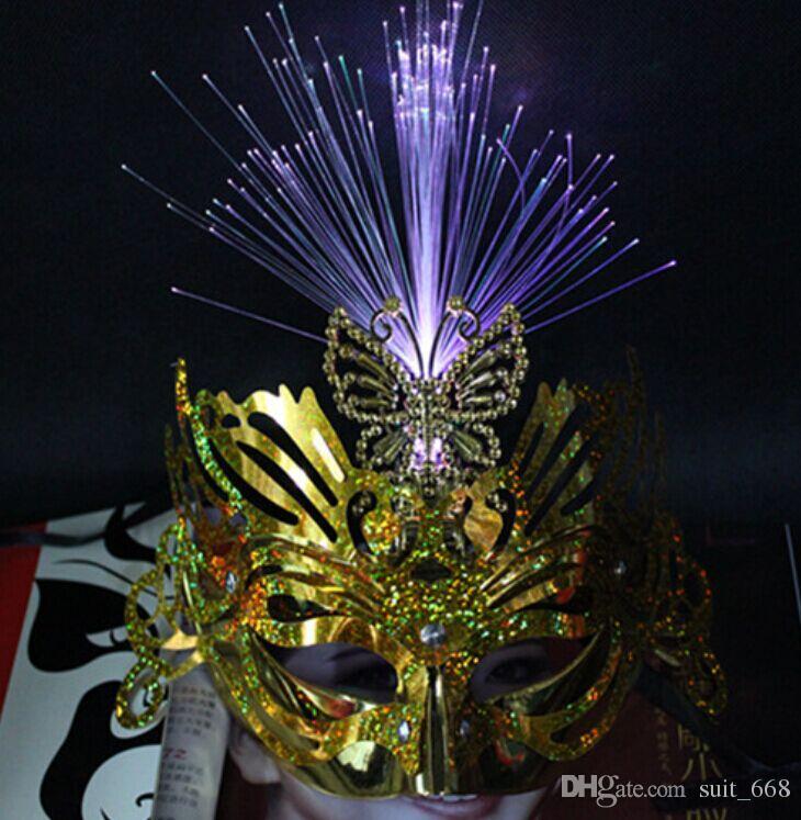 새로운 빛나는 플래시 공작 나비 비가 두 번 마스크 도매 어린이 불꽃을 확산