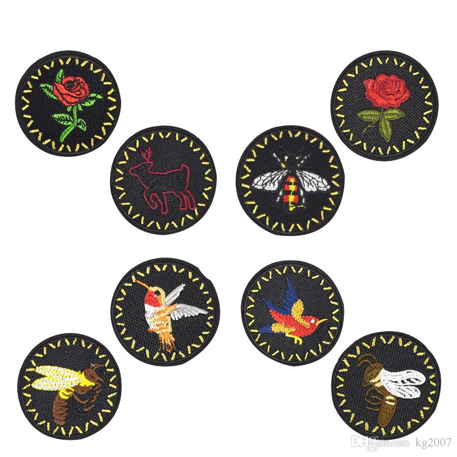 8 PCS/set Bees Badge Patches for Clothing Bags Iron on Transfer Applique Insect Patch for Jacket Jeans DIY Sew on Embroidery Sticker