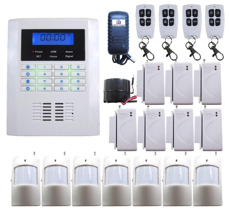 SF-10B 101 Zones Wireless GSM Home Security Alarm Burglar System for Fire, Gas Leak, Door Lock, Living Room, Window, Balcony,and Perimete
