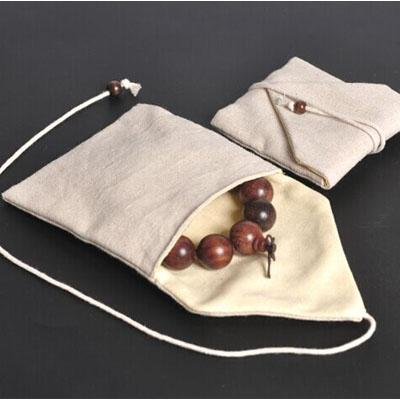 Luxury Jewelry Cottom Linen Gift Packaging Bag Bangle Bracelets Necklace Holder Pouch Sack
