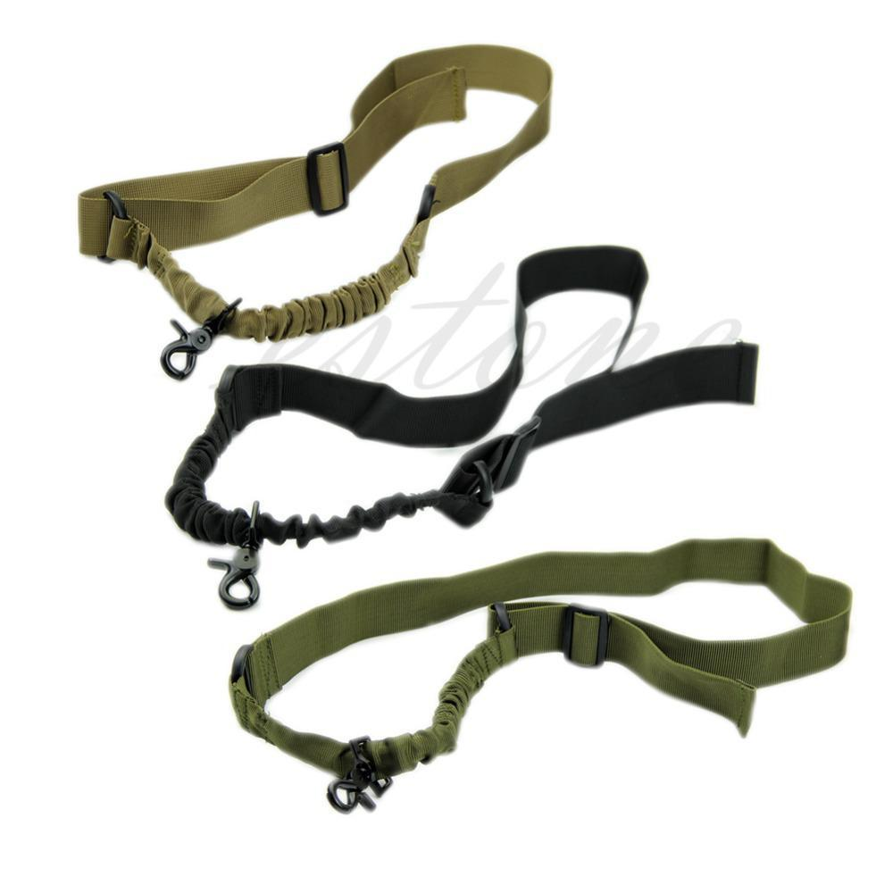 All'ingrosso-Nuovo Tactical ACU New - One Single 1 punto Bungee Rifle Gun Airsoft Sling regolabile
