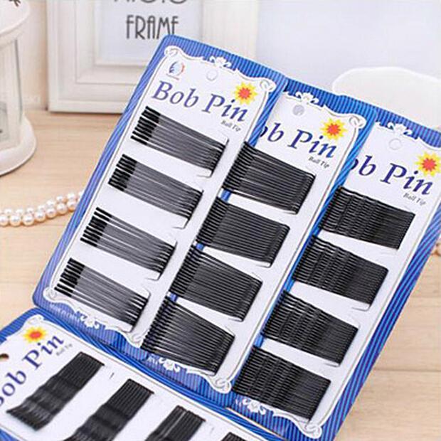 Бесплатная доставка 60pcs/лот черный позолоченный тонкий U-образный 4,5 см волос заколка черный металлические зажимы Барретт 2015 новое прибытие TOP22