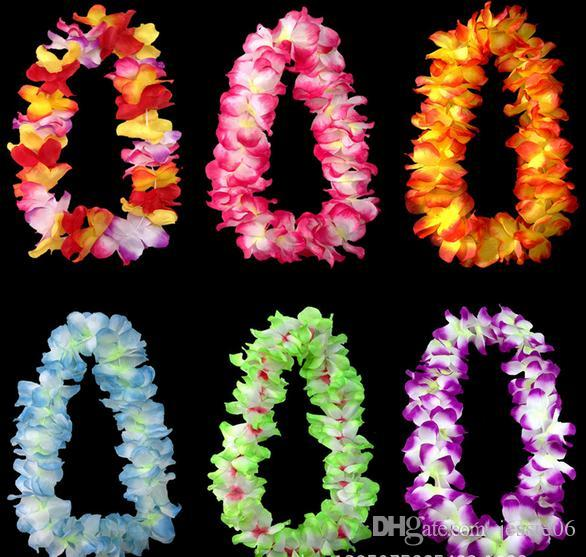 Bruiloft Party Decoratie Hawaiiaanse Bloemen Ketting Kransen Gras Rokken Accessoires Ketting Artieve Bloemen Kleurrijke Drop Shipping