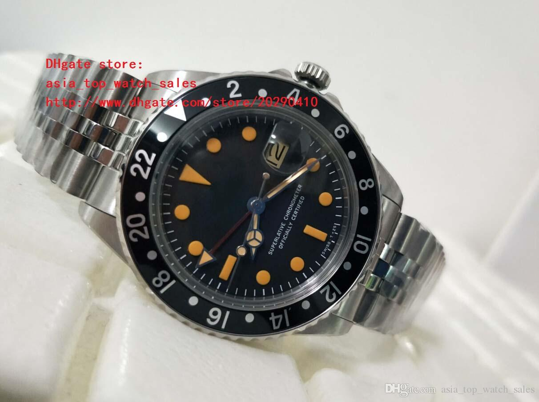 El último reloj de alta calidad 40m m Vintage 1675 rojo GMT cristal de zafiro Asia 2813 movimiento mecánicos relojes para hombre automáticos