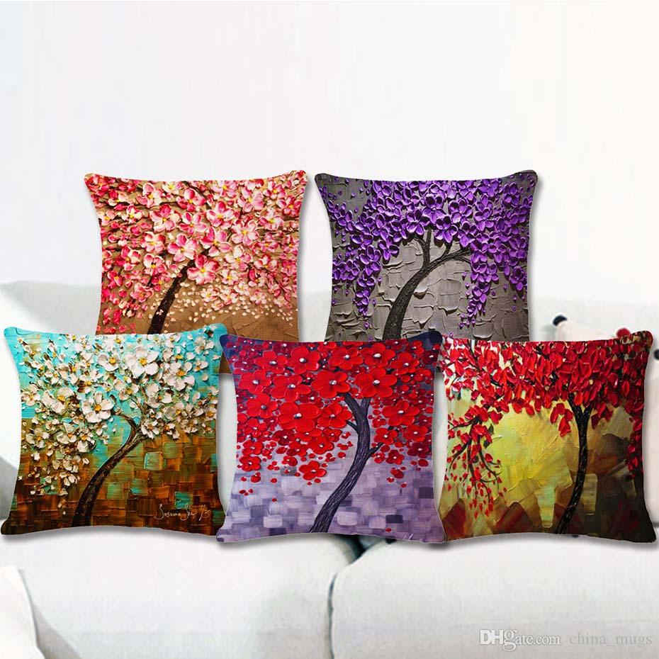 Marvelous Cushion Cover 3D Floral Printed 43X43Cm 17X17 Linenpolyester Decorative Pillow Cases Home Sofa Pillowcase New Gift Spotlight Outdoor Cushions Pdpeps Interior Chair Design Pdpepsorg