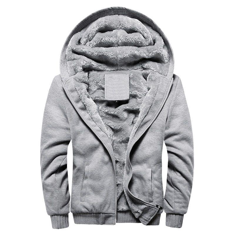 Al por mayor Bolubao nuevos hombres suéter con capucha clásico de la manera del color sólido de la capilla informal gruesa capa caliente Fleece forrado chándal con capucha masculina