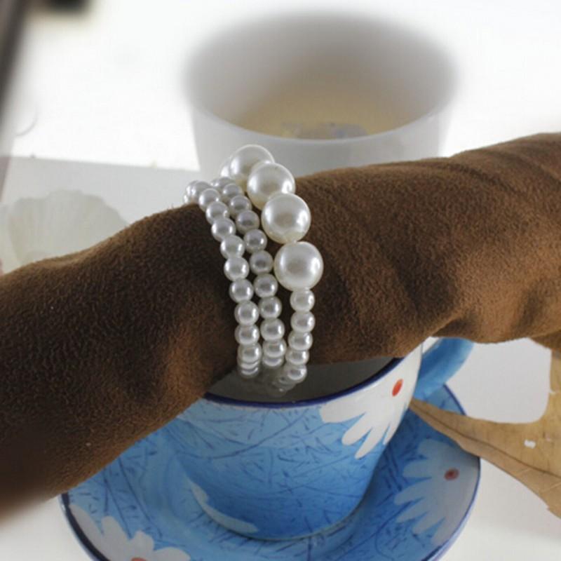 2016 Novos Anéis De Guardanapo Do Casamento branco Pérolas Brilhantes Anéis De Guardanapo Para O Favor Do Casamento Suprimentos Festa Acessórios de Decoração De Mesa