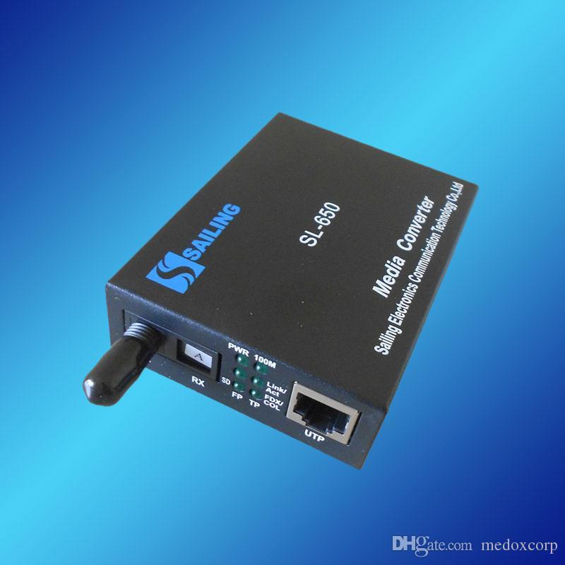 10 / 100m Ethernet over Fiber Transceiver, 10 / 100m tot 100m Ethernet Media Converter, Dual Golflengte 1310 / 1550nm, 60km, SM, SX