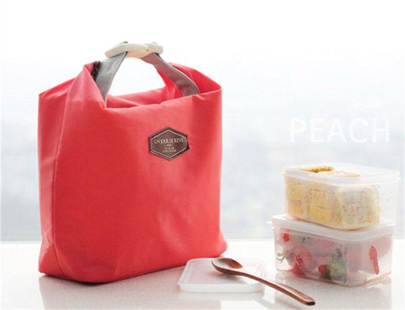 الحرارية معزول حقيبة الغداء مربع حمل برودة أكسفورد القماش سستة حقيبة بينتو الغداء كيس العزل الحقيبة الساخنة للأطفال النساء 10 قطعة / الوحدة