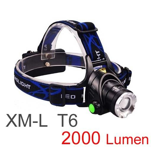 New Arrival,Free Epacket Top Quality 2000 Lumens Headlamp CREE XM-L T6 LED Headlight For Head Lamp Torch LED Flashlight Head Light (V9)